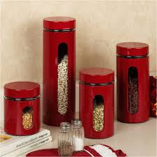 100 red canisters kitchen decor amazon com seed bag red
