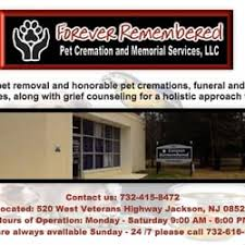 forever remembered pet cremation and memorial services pet