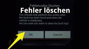 fehlerspeicher löschen zurücksetzen mit android bei obd2 ohne