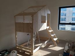 Ikea Tuffing Bunk Bed Hack Make An Indoor Playhouse Bunk Bed Ikea Mydal Hack Ikea Hackers