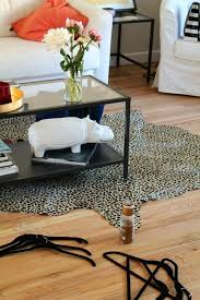 Faux Cowhide Area Rug Outstanding Gray Leather Area Rug Chevron Design Shine Rugs Within