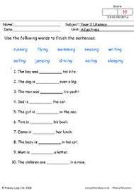 primaryleap co uk adjectives worksheet