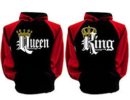 boyfriend girlfriend hoodies his queen her king