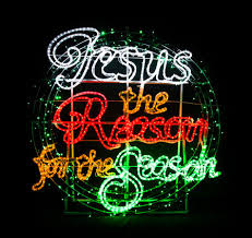 jesus the reason for the season light motif display