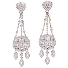 gold chandelier earrings doris panos diamond white gold chandelier earrings charles