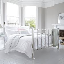 bentley designs alice antique white metal bed frame with regard to