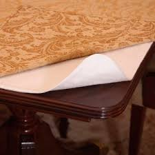 thick clear vinyl table protector dining table protector pad wayfair