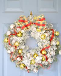 diy flocked wreath the cofran home