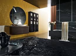 elegant black bathroom design ideas with nice floor tiles