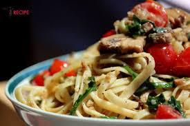 tomates cuisin s fettucine tomates cerises roquette et chignons miss recipe com