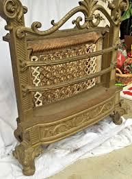antique cast iron ornate gas fireplace insert humphrey radiantfire