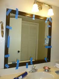 bathroom cabinets simple round bathroom mirror with dark brown