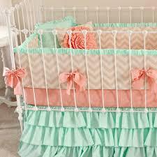 Shabby Chic Crib Bedding Sets by Mint Sorbet Chevron Nursery Bedding Lottie Da Baby Baby