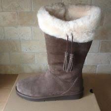 s ugg australia plumdale boots ugg australia plumdale espresso suede sheepskin boots size us 8 eu