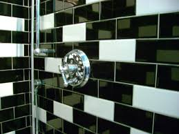 black tile bathroom floor stainless steel withles pull combined