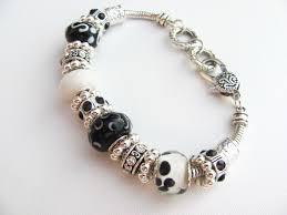murano glass bead bracelet images Black diamond murano glass bead bracelet pandora inspired vintage JPG