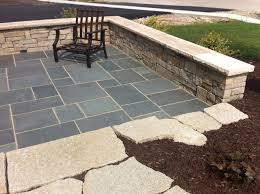 Limestone Patios Bluestone Patio With Limestone Veneer Seat Wall