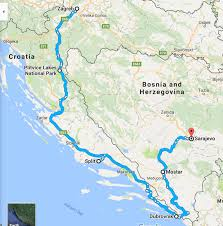 Bosnia Map Croatia And Bosnia Trip Itinerary U2014 Designer Esra Travels London