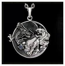 aliexpress yang 925 sterling silver blue dragon white tiger yin and yang tai chi