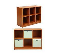 amazon com furinno small cherry storage bookcase with shelves