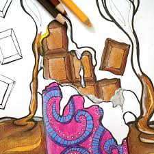 free printable chocolate chocolate coloring adults