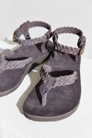 teva original suede braid sandal in gray lyst