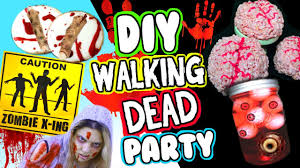 DIY Walking Dead Party Last Minute Halloween Party Ideas
