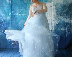 Wedding Dresses Light Blue Blue Wedding Dress Etsy