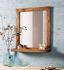 Wood Mirrors Bathroom Buy Fabuliv Distress Grey Mango Wood 21 X 6 X 24 Inch Weathered