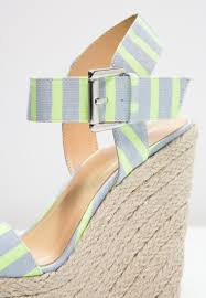 Only Shoes Onlamy Wedge Sandals Light Blue Neon Yellow Women