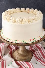 eggnog layer cake and sugar