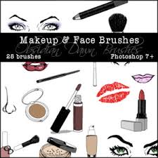 makeup and face sketches photoshop brushes free photoshop