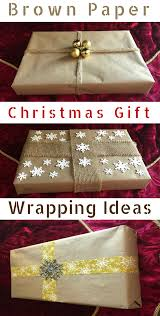 brown paper christmas gift wrapping ideas prudent penny pincher
