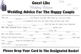 advice for the and groom cards wedding advice cards for reception