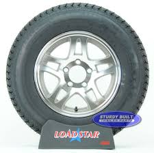 15 Inch Truck Tires Bias Trailer Tire St205 75d14 Bias Ply On Aluminum Split Spoke Wheel 5 Lug