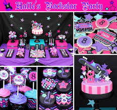 classy pink and black birthday party decorations lovely home