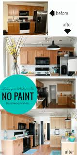 how to update oak kitchen cabinets before and after great ideas to update oak kitchen cabinets