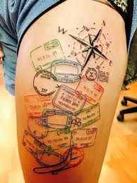 one piece compass tattoo 110 best compass tattoo designs ideas and images piercings models