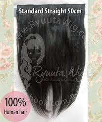 hair clip rambut asli jual 40cm hair extension hairclip human hair rambut sambung asli