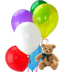 balloons and teddy bears teddy with balloons bouquet areka flowers