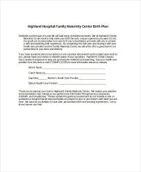 birth plan template 15 free word pdf documents download free