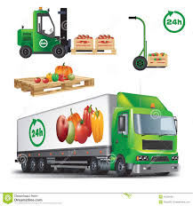 fruits delivery fresh agricultural products delivery stock vector image 45238158