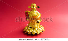 statue with golden dog statue on paper2018 stock photo 716281432