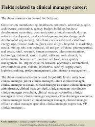 clinical manager resume top 8 clinical manager resume sles
