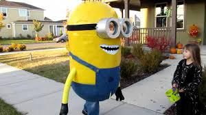 halloween costumes minion home made paper mache minion costume youtube