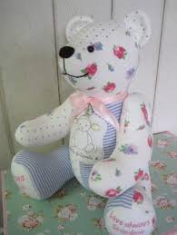 remembrance teddy bears keepsake memory made from baby clothes remembrance
