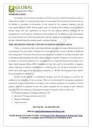 environmental risk assessment template eliolera com