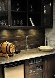 Wet Bar Backsplash Home Bar Traditional With Wet Bar Black Sink - Bar backsplash