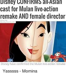 Mulan Meme - disney cunfirms all asian cast for mulan live action remake and