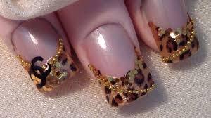 designer inspired 10 easy leopard chanel nail art youtube